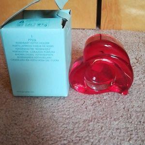 Party lite heart tea light holder